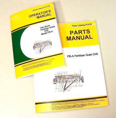 Operator Parts Manual For John Deere Van Brunt Fb117a Fb137a Grain Drill Catalog