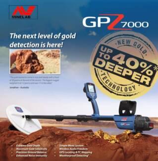 METAL DETECTOR - MINELAB GPZ 7000 WITH FREEBIES!
