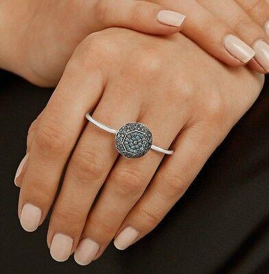 ILEANA MAKRI Gem 18K White Gold Blue Diamond Double-Finger Ring  $5,965