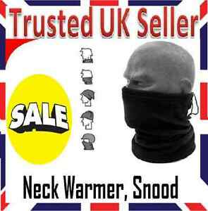MENS-BLACK-FLEECE-NECK-WARMER-SKI-SCARF-SNOOD-FOOTBALL