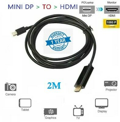 2m Mini dp displayport to hdmi ThunderBolt Cable Adapter For MacBook Air Pro UK