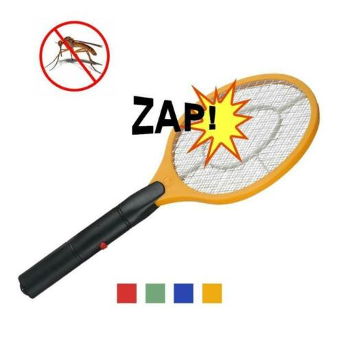 Electric Mosquito Fly Swatter Zapper Racket Handheld Bug Insect Pest Wasp Killer
