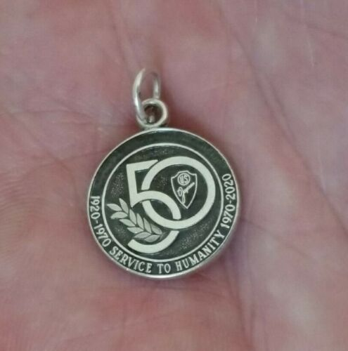 Jostens Sterling Silver Jaycees 50 Service to Humanity Medal Pendant