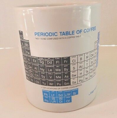 PERIODIC TABLE OF COFFEE ~ MUG ~ Not to be confused with a Coffee Table ~ AMLI