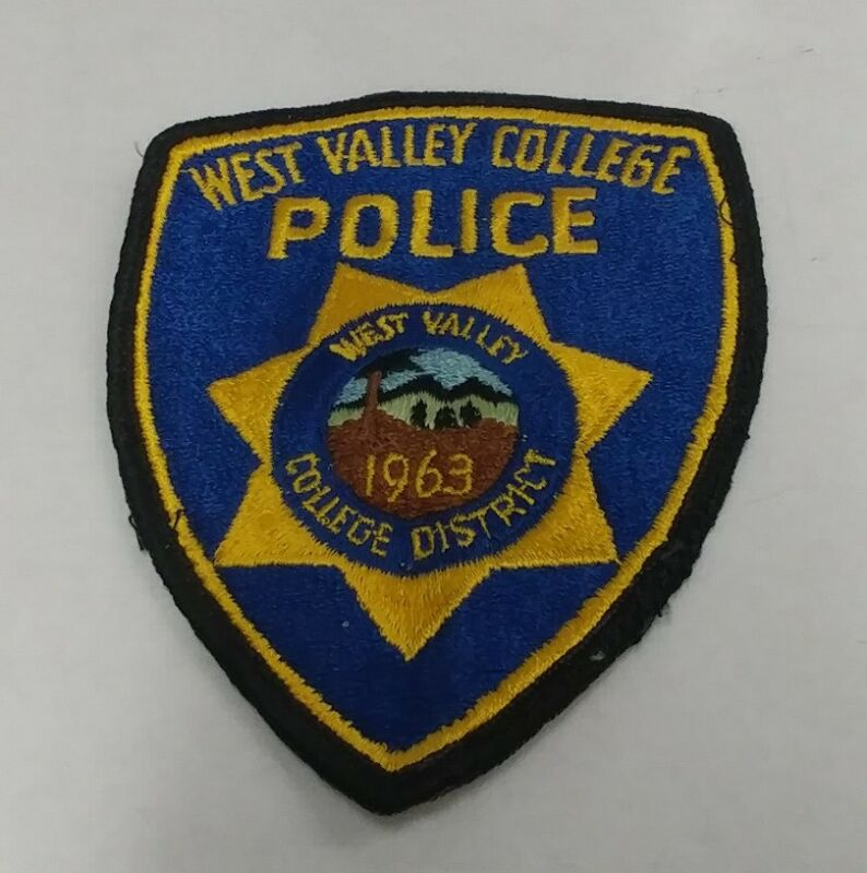 West Valley Mission District Police Patch California EXTREMELY RARE