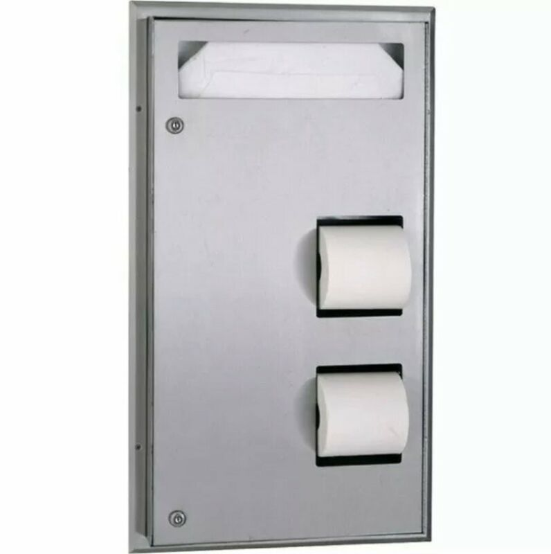 Bobrick B-347 ClassicSeries Partition Mounted Seat Cover Dispenser and Toilet