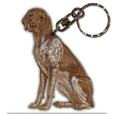 German Shorthair Pointer Wooden Dog Breed Keychain Key Ring