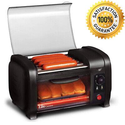 Hot Dog Roller Toaster Oven Sausage Maker Kitchen Cooker Machine Bun Cook Warmer