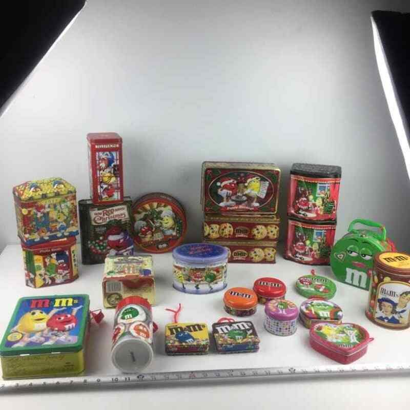 Large Lot of M&M s Tins and other stuff..