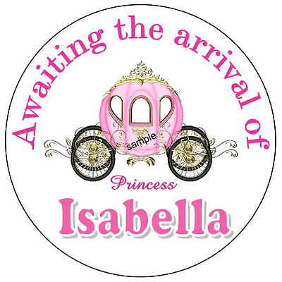 40 LITTLE PRINCESS BABY SHOWER FAVORS STICKERS FOR YOUR PARTY FAVORS (New Little Princess Baby Shower)