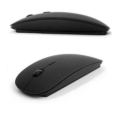 2.4GHz USB Wireless Optical Mouse Mice for Apple Mac Macbook Pro Air PC - Black Mice