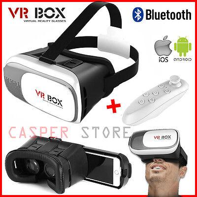 Universal 3D Virtual Reality VR BOX V2.0 Glasses Headset + Bluetooth Remote UK