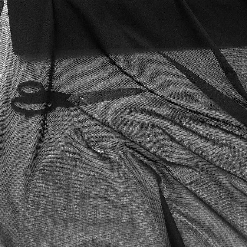 Netz-Stoff Meterware schwarz Outdoor Nylon robust reißfest belastbar 120cm Breit