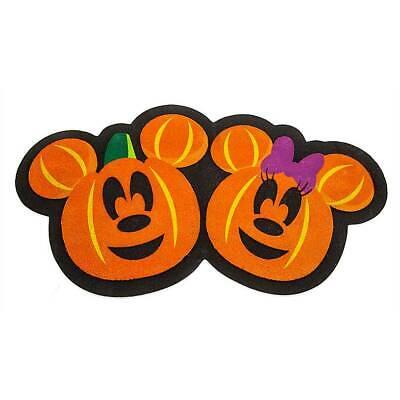 Disney Mickey Und Minnie Maus Jack-O' -lantern Halloween Türmatte Neu
