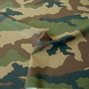 reißfester Camouflage-Stoff unverwüstlich + robust Segeltuch Woodland Tarndruck