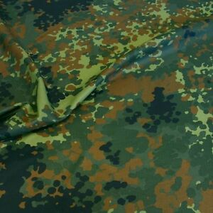 Bundeswehr Camouflage Nylon-Stoff leichte Flecktarn Meterware made in Germany