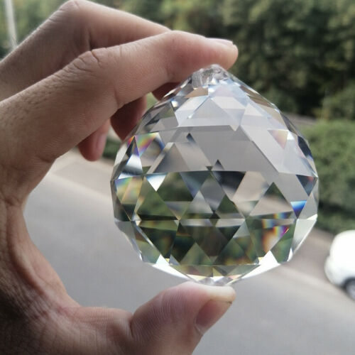60MM Chandelier Pendant Suncatcher Lamp Cut Faceted Prism Crystal Ball Decor DIY