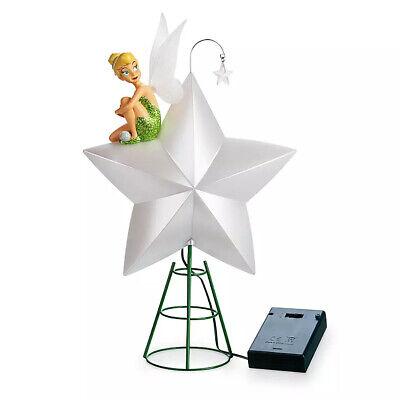 NEW! Disney Store Tinkerbell Tinker Bell Light Up Christmas Tree Topper 2019