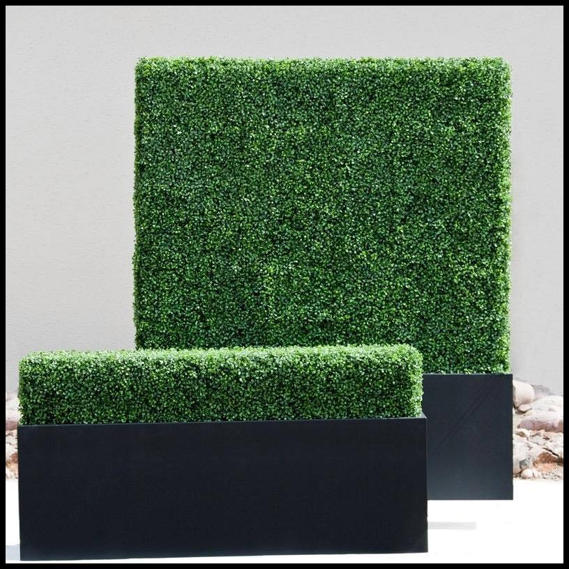 Artificial Faux Boxwood Hedge Plastic Fence Privacy Garden Screening