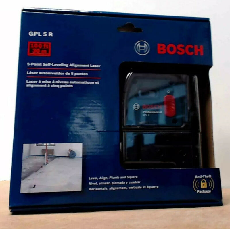 Bosch 5- Point Self-Leveling Alignment Laser GPL 5 R