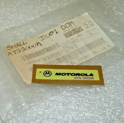 Motorola Solutions 3305573z03 Label Front Yellow Nameplate For Xts3000r New