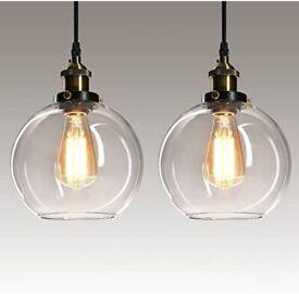 2x brand new drop pendant ceiling lights