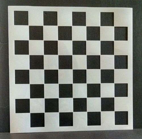 """Stencil CHECKERBOARD Gameboards Walls Tiles Paint Template CHOOSE 6"""" - 11.5"""""""