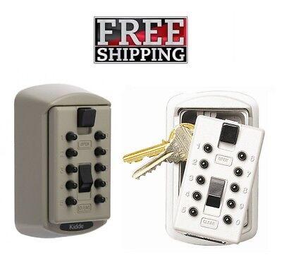 Keysafe Slimline Secure Spare Key Storage White Or Gray