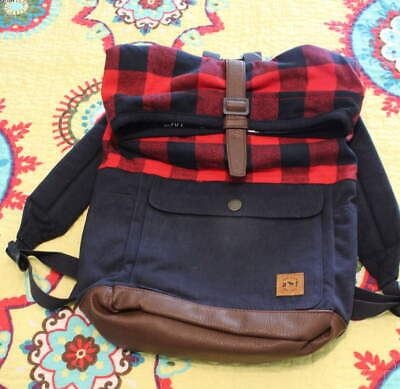 NWT ABERCROMBIE KIDS BACKPACK - BUFFALO CHECK - RARE