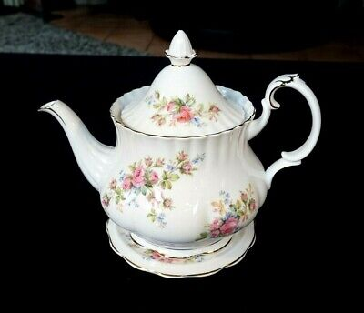 royal albert moss rose tea pot for sale  Shipping to South Africa