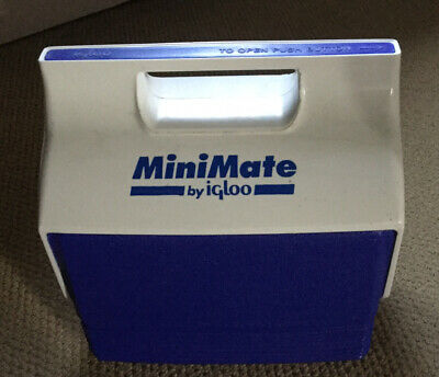 Rare Vintage Igloo MINIMATE Mini Cooler Personal Lunch Cool Box Ice Chest Picnic