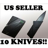 10 Tactical Stainless Steel Credit Card Pocket Knife Camping Survival Wallet