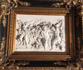 1892 French Marble Relief