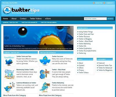 Twitter Popular Niche Turnkey Affiliate Website Online Free Installationhosting