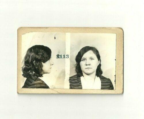 VINTAGE POLICE DEPT. MUGSHOT PHOTO IMAGE 1932 - FORGERY