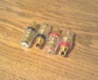 Gold-plated Amplifier Posts