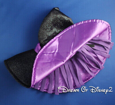 Build-A-Bear HALLOWEEN WITCH HAT Purple & Sparkly Black Teddy COSTUME ACCESSORY
