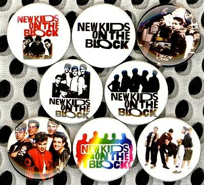 """New Kids on the Block 8 NEW 1"""" buttons pins badges NKOTB STOCKING STUFFER"""