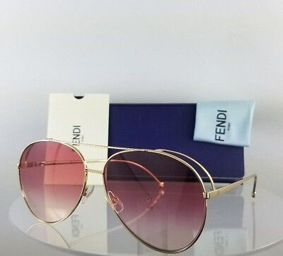b614a74e6d Brand New Authentic Fendi FF 0286 S Sunglasses 0003X Gold 63mm Frame 0286