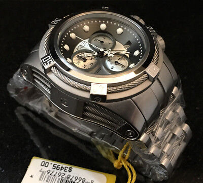 @New Invicta Reserve 52mm Bolt Zeus Quartz Chronograph 21807 Stainless Bracelet