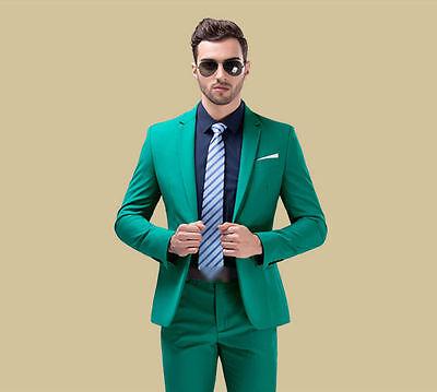 Männeranzug grüner Anzug Hochzeitsanzüge formale Anzüge Eine Knopfklage