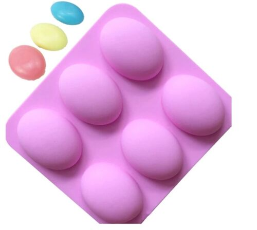 Easter 6 Eggs Silicone Molds Craft DIY Soap Ice Cake Baking Chocolate Mould