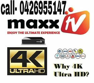 MAXX TV ULTRA 4k( recharge / new boxes) Melbourne CBD Melbourne City Preview