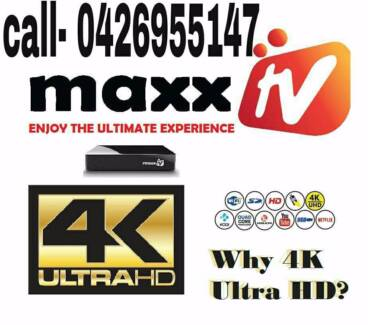 MAXX TV ULTRA 4K ( FREE DELIVERY )