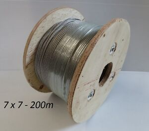200m Marine Stainless Steel 316 Cable Wire Rope Balustrade 7 x 7 Decking 3.2mm