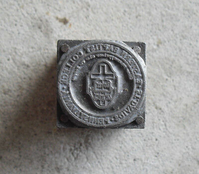 Vintage Eastern Baptist College Wood Metal Letterpress Print Block Stamp