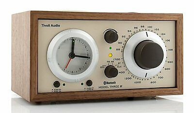 Tivoli Model Three BT Radio Walnut/Beige AM/FM with Bluetooth