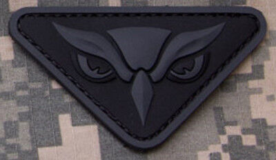 OWL HEAD DARK OPS ISAF COMBAT TACTICAL BADGE MORALE 3D PVC MILITARY PATCH