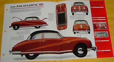 1951 Austin A90 Atlantic 2660cc 4 Cylinder 2 SU Carbs IMP Info/Specs/photo 15x9