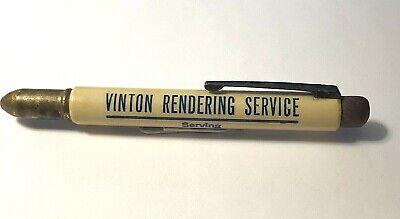 Vintage Vinton Rendering Service Advertising Bullet Pencil ~ Vinton Iowa ~